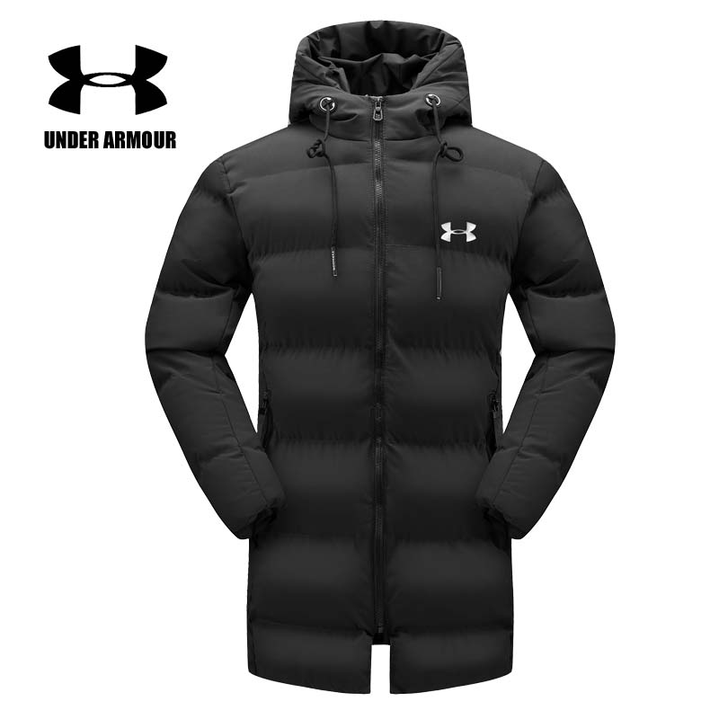 Under Armour Men Winter Jacket 2018 new warm hooded coat outdoor Windproof running Jackets Chaqueta Hombre Asian Size XL-6XL все цены
