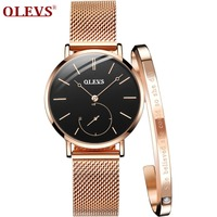 OLEVS Hot Sale Rose Gold Women Watches Bracelet wristwatch for girls Luxury Ladies Watch reloj mujer relogio feminino horloges