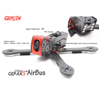 GEP AX5 215mm X Type 5in Carbon Fiber FPV Racing Drone Quadcopter Frame Kit with XT60 Power Distributor LEDs RC Frame Parts