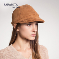 Faramita Holiday Women Warm Hat Baseball Cap Winter Suede Fashion Snapback Polyester Fitted Hat For Men Women's Hat Cool Female