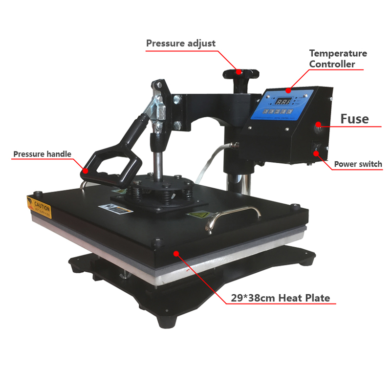 New 38*43CM 8 in 1 Combo Heat Press Printer Machine 2D Thermal Transfer Printer for Cap Mug Plate T-shirts Printing wtsfwf 30 38cm 8 in 1 combo heat press printer machine 2d thermal transfer printer for cap mug plate t shirts printing