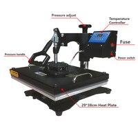 New 38*43CM 8 in 1 Combo Heat Press Printer Machine 2D Thermal Transfer Printer for Cap Mug Plate T shirts Printing