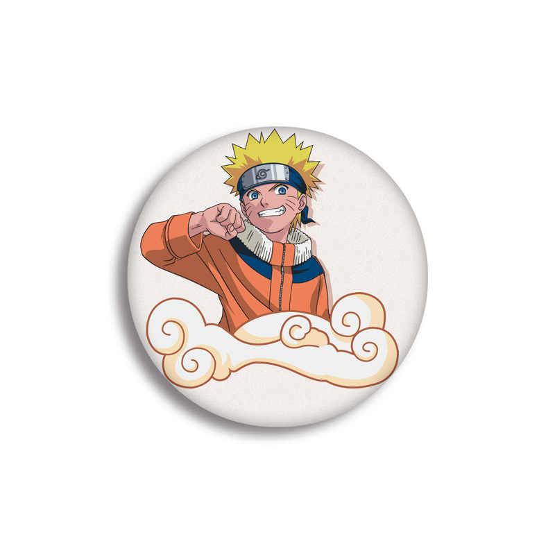 Anime Naruto Cosplay Lencana Kartun Jepang Uchiha Sasuke Akatsuki Hatake Kakash Bros Hadiah Tas Pakaian Dekorasi