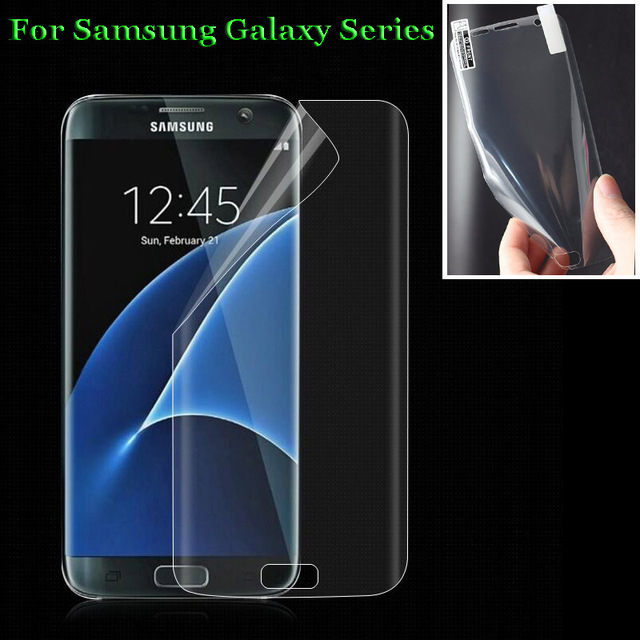 For Samsung Galaxy S6 S7 Edge S8 S9 Plus Note 7 8 3D Curved Full Covering Soft PET Film Screen Protector (Not Tempered Glass)