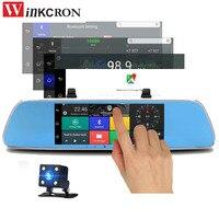 7 Rearview Mirror 3G Car DVR Mirror Dual lens Camera Bluetooth dvr GPS Navigation Android 5.0 HD 1080P Video Recorder