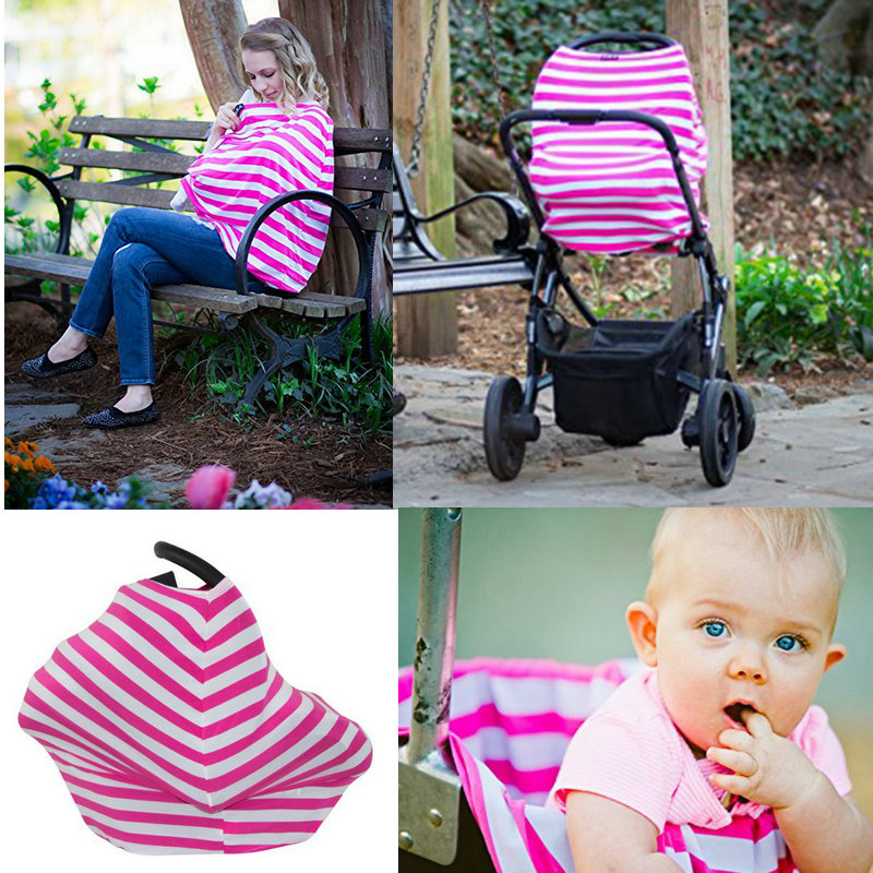 Baby Car Seat Covers Canopy Infant Nursing cover for Breastfeeding Infinity scarf Stretchy Multi-use Gift