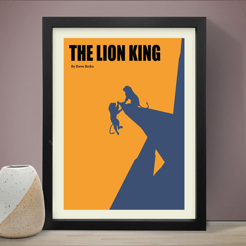 The Lion King And Lobster And Big Fish Film Canvas Prints Wall Art Decor