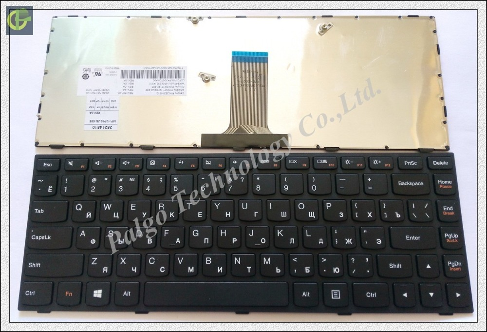 цена Russian RU Keyboard for Lenovo G40 g40-30 g40-45 G40-70 G40-75 G40-80 n40-70 n40-30 B40-70 Flex2-14a V1000 V3000 V1070 Black