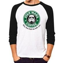 Herren t-shirts fashion star wars starwar-stick tops tees männer Hip Hop Männer t-shirt volle hülse Casual baumwolle t-shirt