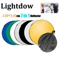 "43"" 110cm 7 in 1 Portable Collapsible Light Round Photography Reflector Studio Multi Disc Reflector"