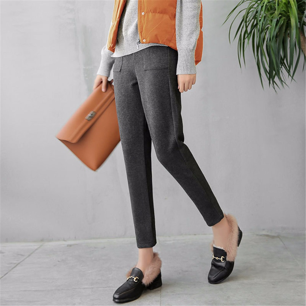 2018 New Women loose wide leg   Pants   Elegant Stretch High Waist Wide Leg Long   Pants   Palazzo Trousers   Capris   Pantalones Mujer Wide