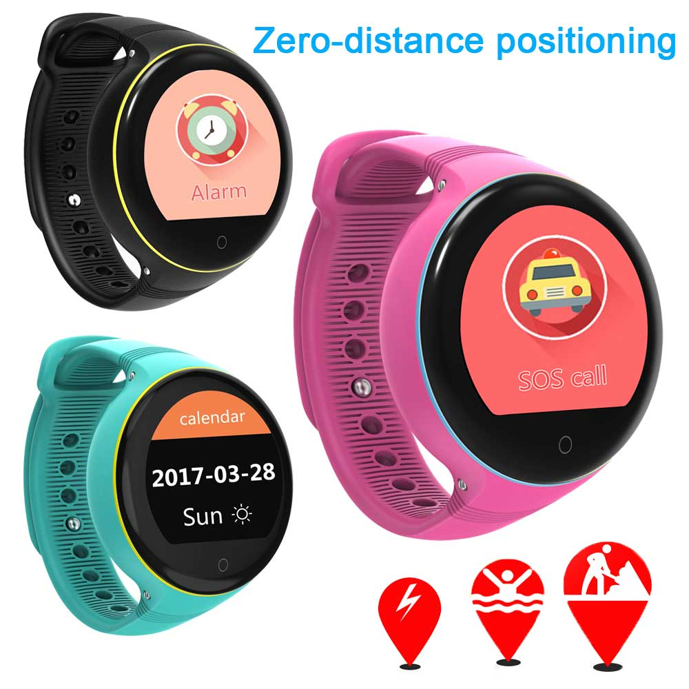 GPS WiFi Kids Smart Watch Phone Baby Watch Round Screen S668 Smart Wristwatch for Old Man Child SOS Pedometer Support SIM Card