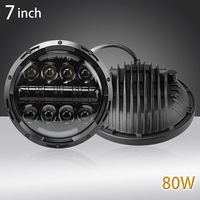 7 Motorcycle Led Daymaker Headlight for Harley Softail Deluxe Fat Boy FLSTF