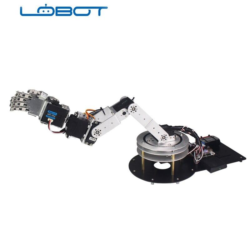 6DOF Robot Arduino bras cinq doigts alliage danse main Kit avec humanoïde télécommande RC pièces Robot jouet - 4