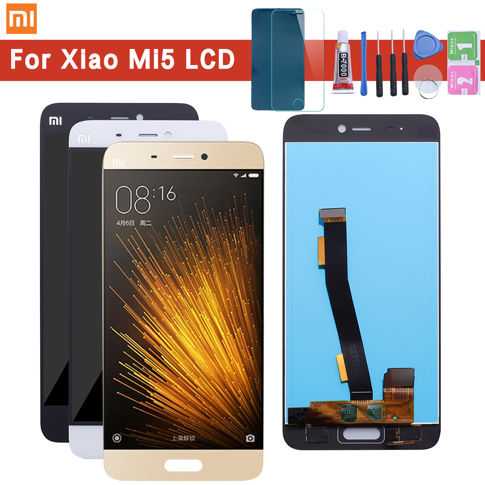 For Xiaomi Mi5 LCD Display and Touch Screen Assembly Perfect Repair Part 5.15 inch phone Accessories +Tools And AdhesiveFor Xiaomi Mi5 LCD Display and Touch Screen Assembly Perfect Repair Part 5.15 inch phone Accessories +Tools And Adhesive