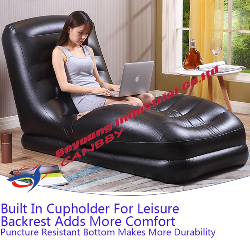 adult size bean bag chair sex on dental black intex mega lounge contoured relax inflatable sofa seat with built in cup ...
