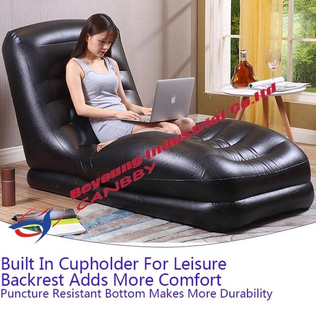 Marvelous Schwarz Intex Mega Sessel Konturierte Entspannen Aufblasbare Lounge Sofa  Sitz Mit Integrierten Tasse Halter Für Erwachsene