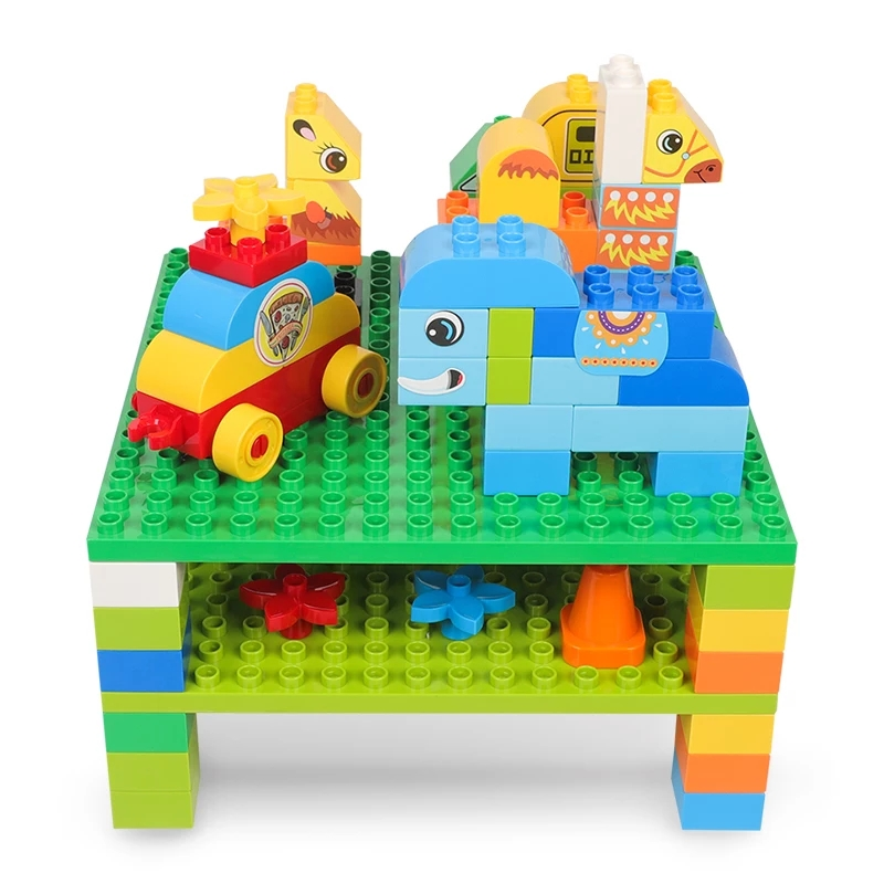 Double Sides 2PCS Brig Bricks 16*16 Dots 25*25cm DIY Baseplate Educational Toy Compatible With Legoed Duploed big bricks building blocks base plate 51 25 5cm 32 16 dots baseplate diy bricks toy compatible with major brand blocks