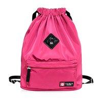 Waterproof Drawstring Bag Gym Bag Fitness Bag Nylon for Gym Sports Fitness Yoga Women Girls Travel Student Bags Sport Backpacks
