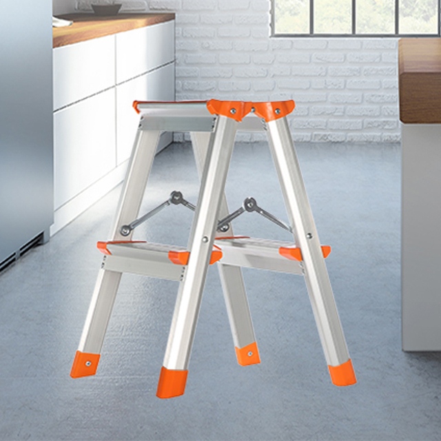 aluminum kitchen step stools step ladders household floding stool two step ladder multi functional - Kitchen Step Ladder