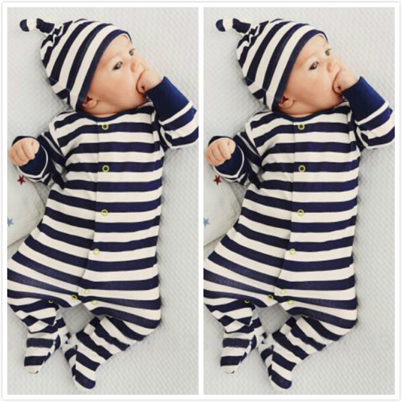 Newborn Toddler Kids Baby Boy Girl Unisex Infant Warm Cotton Outfit Jumpsuit Romper Cute One Piece Clothes