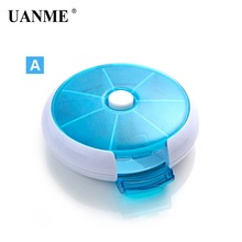 new weekly sort folding vitamin medicine pill box makeup storage case container zh065 UANME Mini Care Multi Slot Pill Medicine Vitamin Storage Box Organizer Cover Portable Pill Case Weekly Rotating Drug Small box