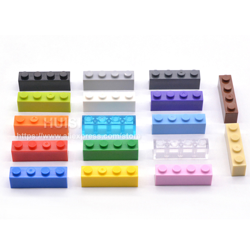Image 5 - 1X4* DIY Educational Assembling Toy Plastic Base Building Blocks Bricks Small Paticles For Kids Gifts Learning Toys 100pcs/lot-in Blocks from Toys & Hobbies
