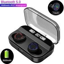 X11 TWS 5.0 Bluetooth 9D Stereo Earphone Wireless Earphones IPX7 Waterproof 3500mAh Charging Box With And Power Displa