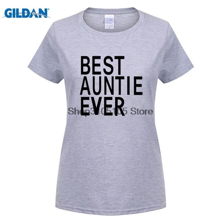GILDAN Kadınlar 100% Pamuk İyi teyze hiç lady Baskı Yaz komik Çift T Shirt Tees Kısa Kollu Nedensel Çift tops giysi
