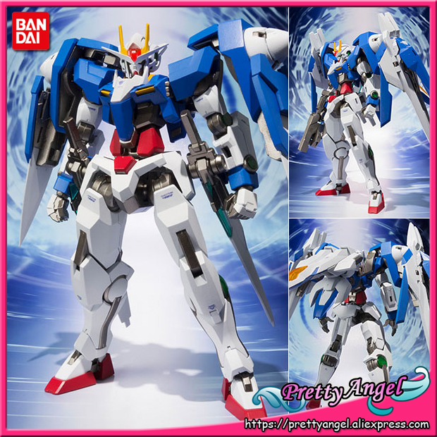 PrettyAngel - Genuine Bandai Tamashii Nations METAL Robot Spirits Mobile Suit Gundam 00 00 Raiser + GN Sword III Action Figure original bandai tamashii nations robot spirits exclusive action figure rick dom char s custom model ver a n i m e gundam