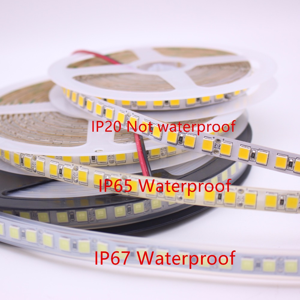 12V  24V 5m 5054 LED Strip Light  120LEDs/M Non Waterproof  White Warm White  600 Led Stripe Flexible LED Ribbon Tape Lamp