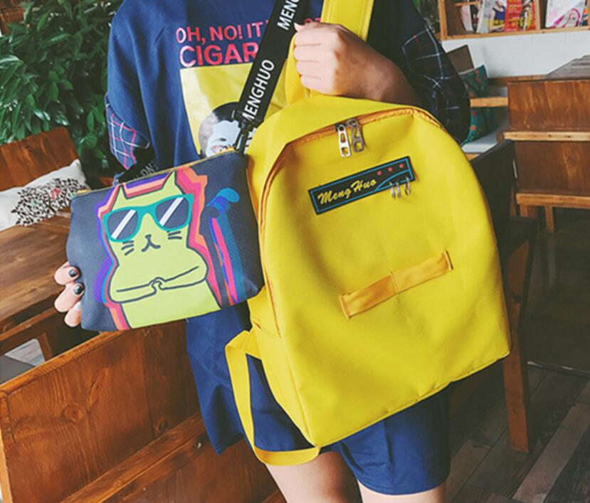 New Collection Korean Style Original Graffiti Printing Cute Schoolbag For Students College Style Backpack Casual Campus