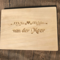 Personalized Custom Bamboo Chopping Blocks Engraved Name Cutting Board Wedding Party Gifts Kitchen Supplies