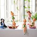 6pcs/Set Christmas Kids Gift Tinkerbell Dolls Flying Flower Fairy Children Animation Cartoon Toys Girls Dolls Baby Toy WJ436