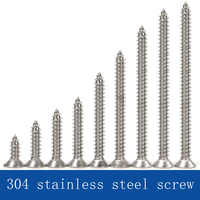 304 stainless steel self tapping screw cross head screw flat head screw M4