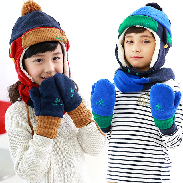 4f1860b41e70 Baby Boys Girls Winter Hat Scarf And Glove 3Pcs Set Children 1 10 ...