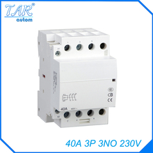 Modular three pole household small AC contactor Household AC Power Contactor Modular 40A 3P 3NO 230V стоимость