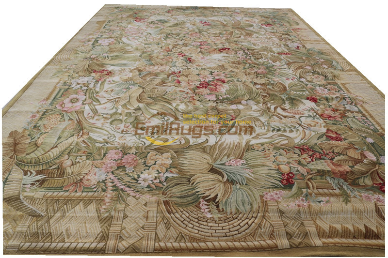 Palace French Savonnerie Area Rug Antique Chinese Hand made Wool Wool Knitting Carpets Turkey Gift