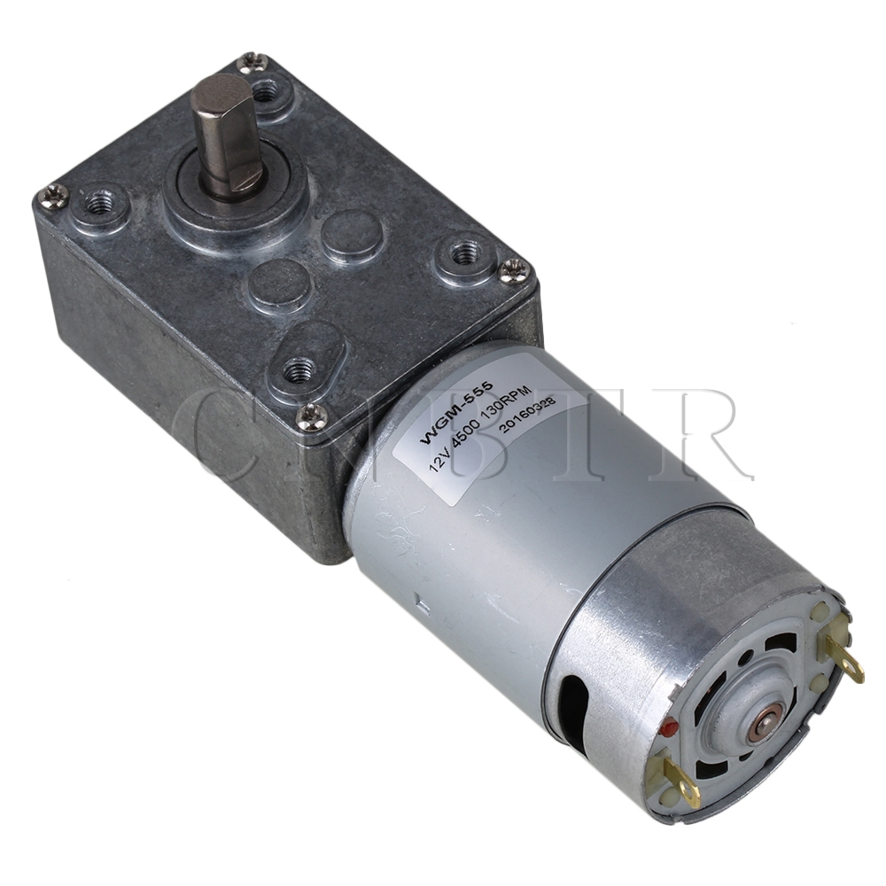 Cnbtr 130rpm right angle high torque turbo 12v electric for Waterproof dc motor 12v