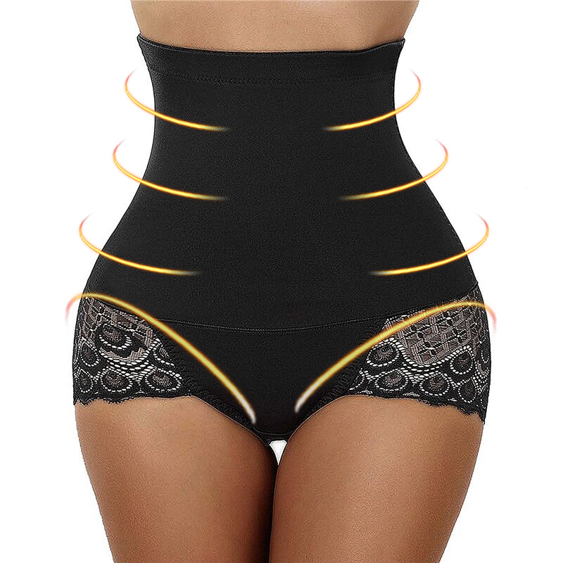 04887138db Detail Feedback Questions about Plus Size Women New Fashion High Waist  Briefs Underwear Shapewear Panty Body Shaper Control Slim Lace Body Shaping Pants  on ...