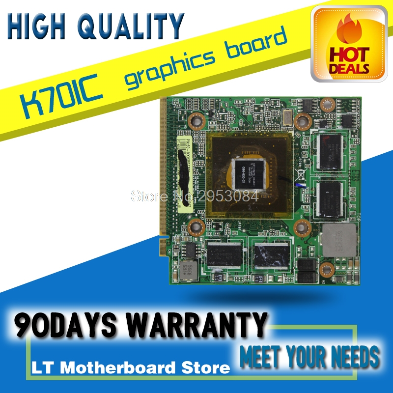 Original Video card For ASUS notebook K50IO K61IC X66IC 1GB G96 G96-630-C1 GeForce 9600M core graphic card original genuine hd 8490m hd8490m 1gb 1024mb graphic card for dell hd8490 display video card gpu replacement tested working
