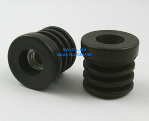 Image 1 - 20 Pieces M8 Thread Nut 25mm Round Plastic Insert Cap Tube End Cover Cap