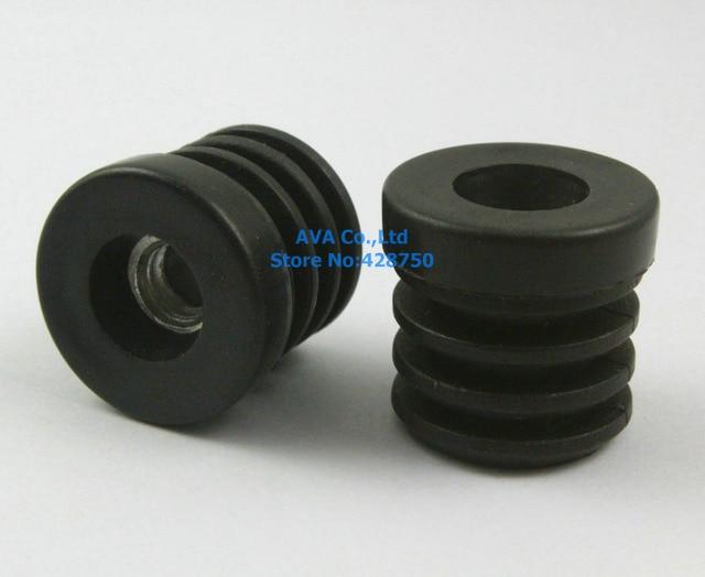 20 Pieces M8 Thread Nut 25mm Round Plastic Insert Cap Tube End Cover Cap