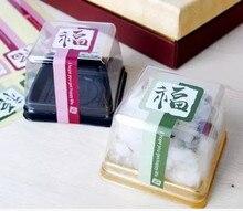 Оптом-300pcs двойной цвет китайский клей печать наклейка подарок этикетки наклейки для партии пользу сумка конфеты коробка украшения