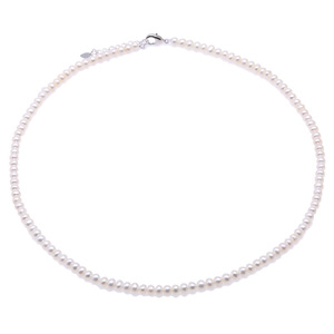 Image 1 - JYX Pearl Necklace Choker White Pink Lavender Natural Pearl Necklace Freshwater Pearl Necklace  Adjustable Length 18 (4.5 5.5mm)