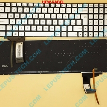 Sk-Keyboard Backlight GL551 ASUS CZ for N552/N752/N551/.. with Silver Czech 9Z.N8BBC.P13