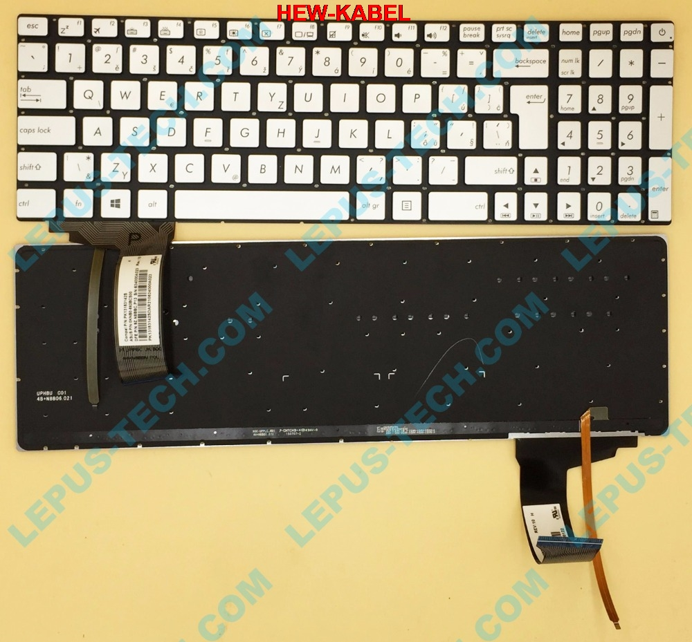 Original CZ SK Tastatur für ASUS N552 N752 N551 G551 GL551 N751 tastatur mit hintergrundbeleuchtung silber Tschechische tastatur 9Z. n8BBC. p13