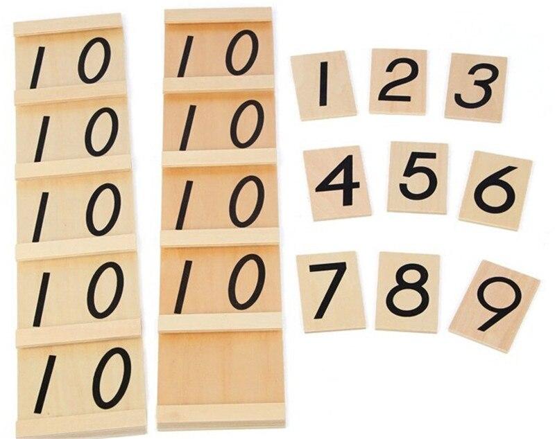 Nouveau jouet en bois pour bébé Montessori adolescents et dizaines planches jouets en bois éducation de la petite enfance formation préscolaire bébé jouet bébé cadeau - 4