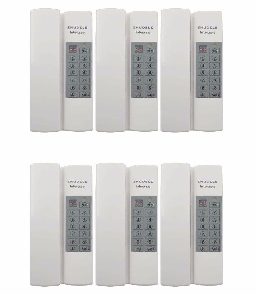 Zhudele Multifunktions Home Security Sprech 6-way Sicher Audio Türsprechanlage/gegensprechanlage Max 99 Griff Extenable Netzteil