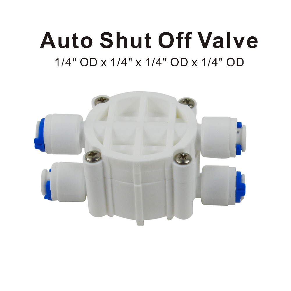 Auto Shut Off Valve 1 4 quot OD Quick Connect Fittings Parts for Water Filters Reverse Osmosis RO Systems in Water Filter Parts from Home Appliances